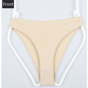 Women Ballet Dance Underwear Briefs High Cut Seamless Gymnastics Panties