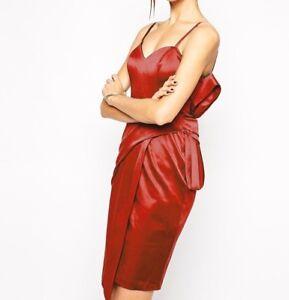 Tight Red Satin Dress