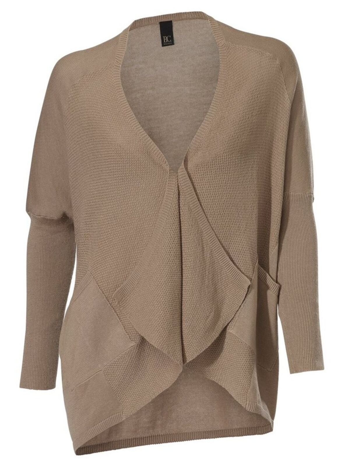 dbdb65ac8fbb Best Connections by Heine Fine Knit Cardigan Closure Los Beige Melange 40
