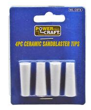 4 pc Ceramic Sandblaster Sandblast Sand Blast Tips Nozzles