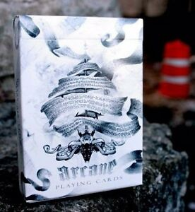 Bicycle-Ellusionist-Arcane-White-Magic-US-Playing-Cards-Poker-Magic-New-Sealed