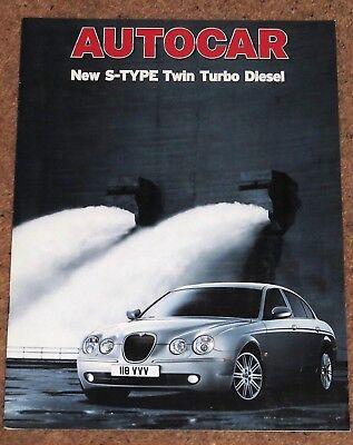 2004 JAGUAR S-Type 2.7D V BMW 730d V MERCEDES E320CDI PROVE SU STRADA BROCHURE RISTAMPA