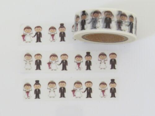 papier cadeau Mariage washi tape mariée et marié /& mariée flèches mariages masquage