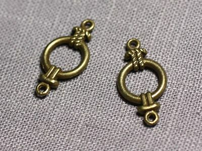 10pc Connecteurs Pendentifs Boucles d/'oreilles Métal Bronze Noeuds Marins 25mm