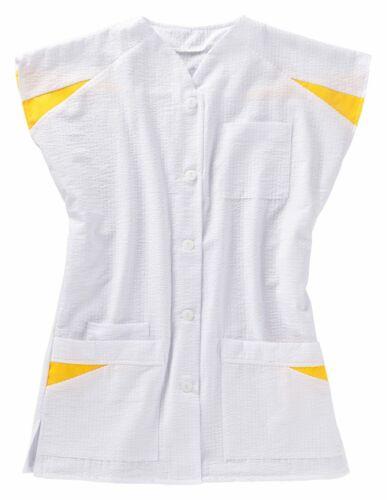 beb Damen Kasack Weiß Gelb 50 /% Baumwolle 50 /% Polyester Seersucker