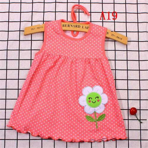 Newborn Baby Cotton Dress Regular Sleeveless A-Line Girl Dresses 0-24 Months  Ii