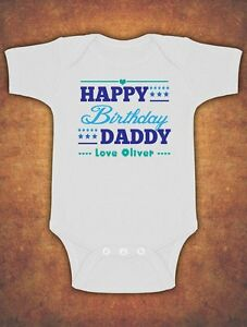 Image Is Loading Personalised Happy Daddy Birthday Baby Kids Present Grow