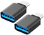 Tipo-C-Adattatore-USB-C-C-maschio-a-3-0-Connettore-C-Donna-da-3-0-A-C-metallico miniatura 1