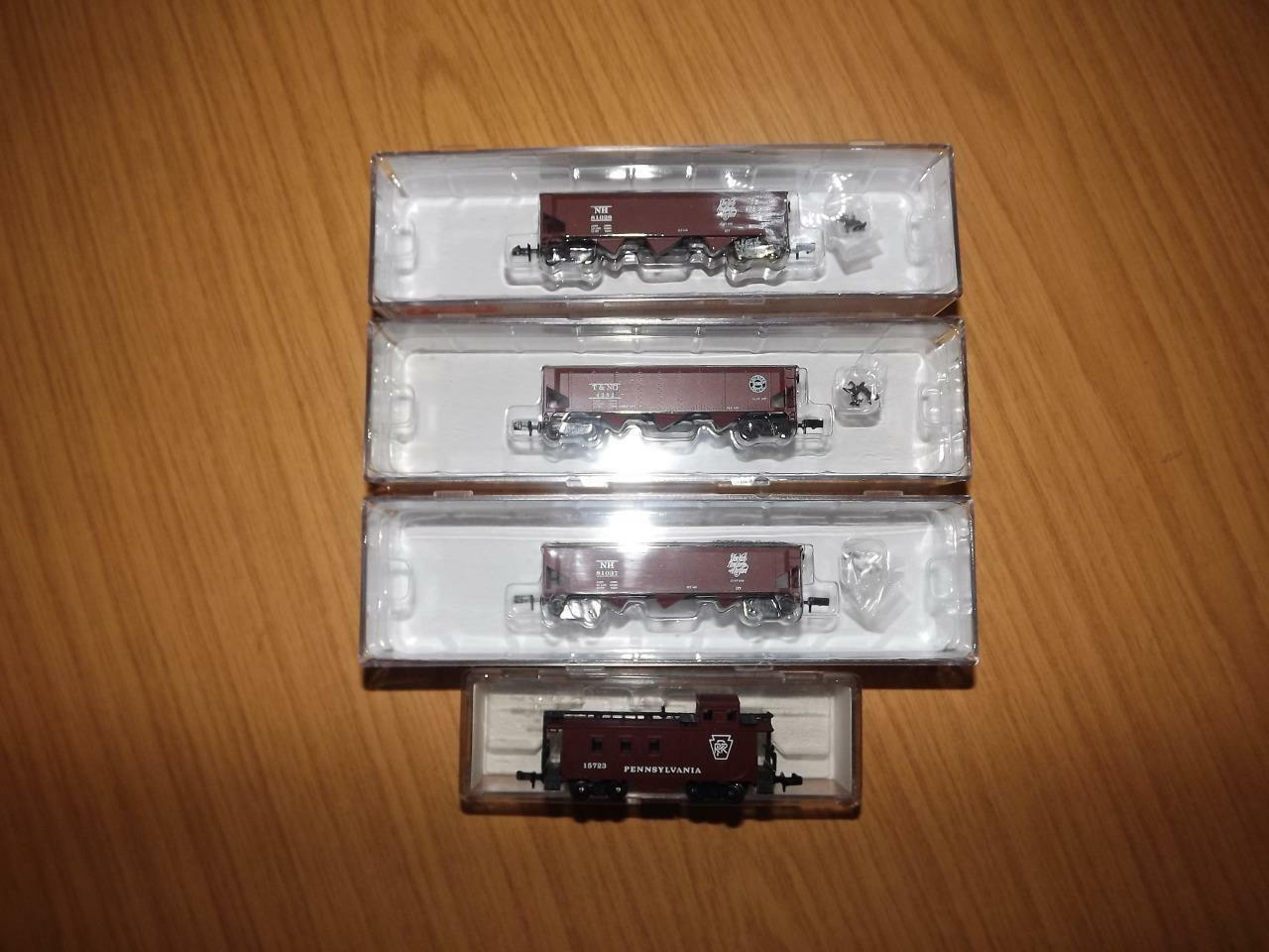Ab183  Roundhouse & Mehano N Gauge Freight Wagons & Caboose x 4 - 86205