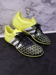huge discount 4952f 02db2 Details about Adidas Ace 15.3 IN Indoor Soccer Shoes Sz 13 (Black/Solar  Yellow) New RARE