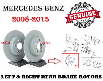 OEM GENUINE MERCEDES BENZ NEW REAR BRAKE ROTORS X2 FOR W204 C300