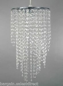 ARUNDEL WHITE LONG ACRYLIC BEADED CHROME FRAME PENDANT CEILING LIGHT LAMP SHADE - Glasgow, Glasgow (City of), United Kingdom - ARUNDEL WHITE LONG ACRYLIC BEADED CHROME FRAME PENDANT CEILING LIGHT LAMP SHADE - Glasgow, Glasgow (City of), United Kingdom