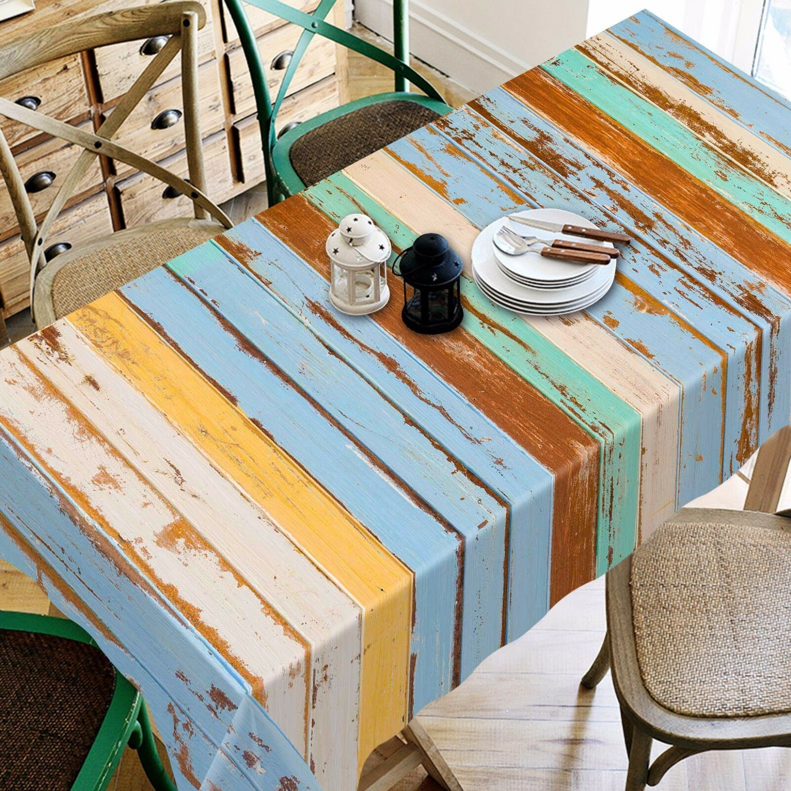 3D Wood 4512 Tablecloth Table Cover Cloth Birthday Party Event AJ WALLPAPER AU