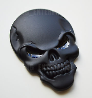 Self Adhesive Chrome 3D Metal Black Skull Badge for Mercedes SL CL CLK CLS CLC M