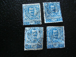 Italy-Stamp-Yvert-and-Tellier-N-69-x4-Obl-A16-Stamp-Italy
