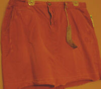 Womens Old Navy Mini Skirt-size 16-rust Color Destructed