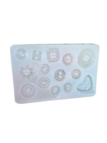 Silicone Tool Button Pendant Mold Jewelry Crafts DIY Resin Mould Epoxy Making