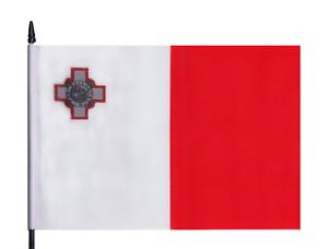 Malta Medium Hand Waving Flag