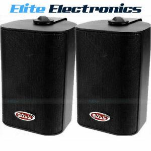 "200W Black Boss Audio MR4.3B 4/"" 3-Way Marine Enclosed System Box Speaker"