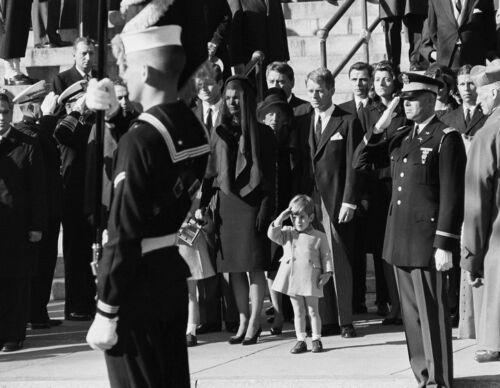 saluting deceased father President JFK Funeral 8x 10 Photo 7 John F Kennedy Jr