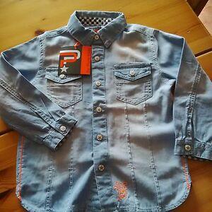 Pure-kids-boys-soft-light-summer-cotton-denim-shirt-age-7-years