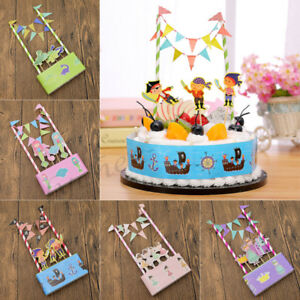 Stupendous Unisex Cake Topper Birthday Cake Banner Bunting Decoration Party Funny Birthday Cards Online Elaedamsfinfo