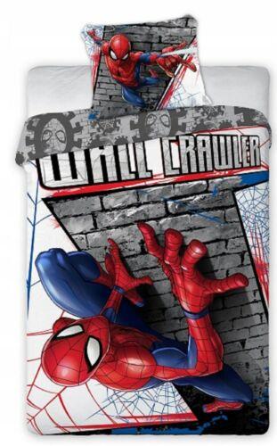 Spiderman Kinder Bettwäsche Set Bettbezug 140x200cm Kissenbezug 70x90cm Marvel