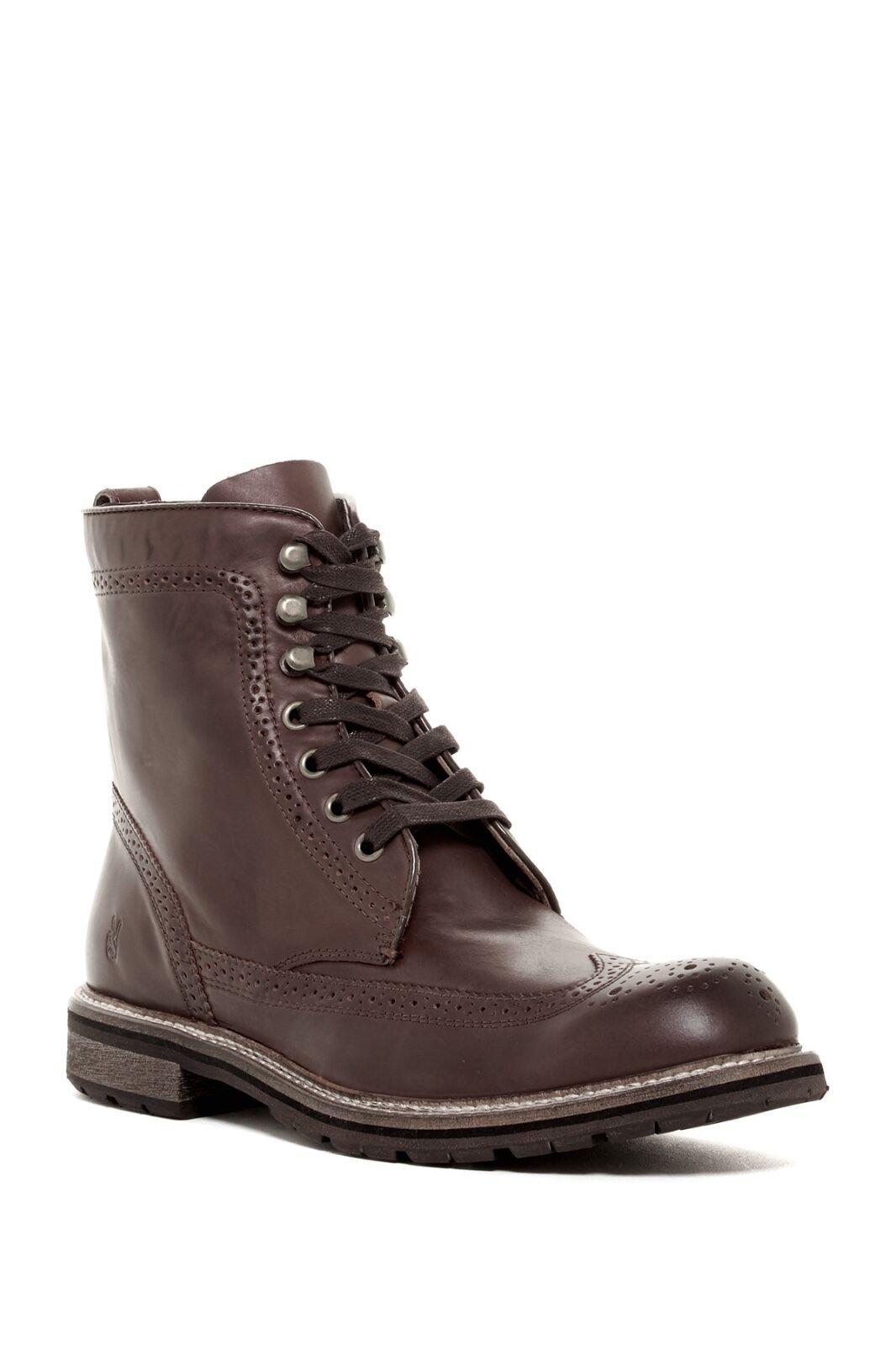 New JOHN VARVATOS Star Strummer WINGTIP stivali Marroneee Leather Mens scarpe 8  368