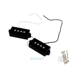 2pcs pro 4 string pickup set noiseless for precision bridge p bass guitar black ebay. Black Bedroom Furniture Sets. Home Design Ideas