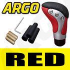 RED BLACK CHROME LEATHER GEAR SHIFT STICK LEVER KNOB SUBARU IMPREZA WRX
