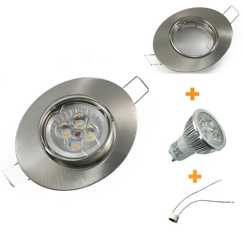 1-12er Set Dimmbar Power LED Einbaustrahler Einbauspot Downlight Set oval 230V