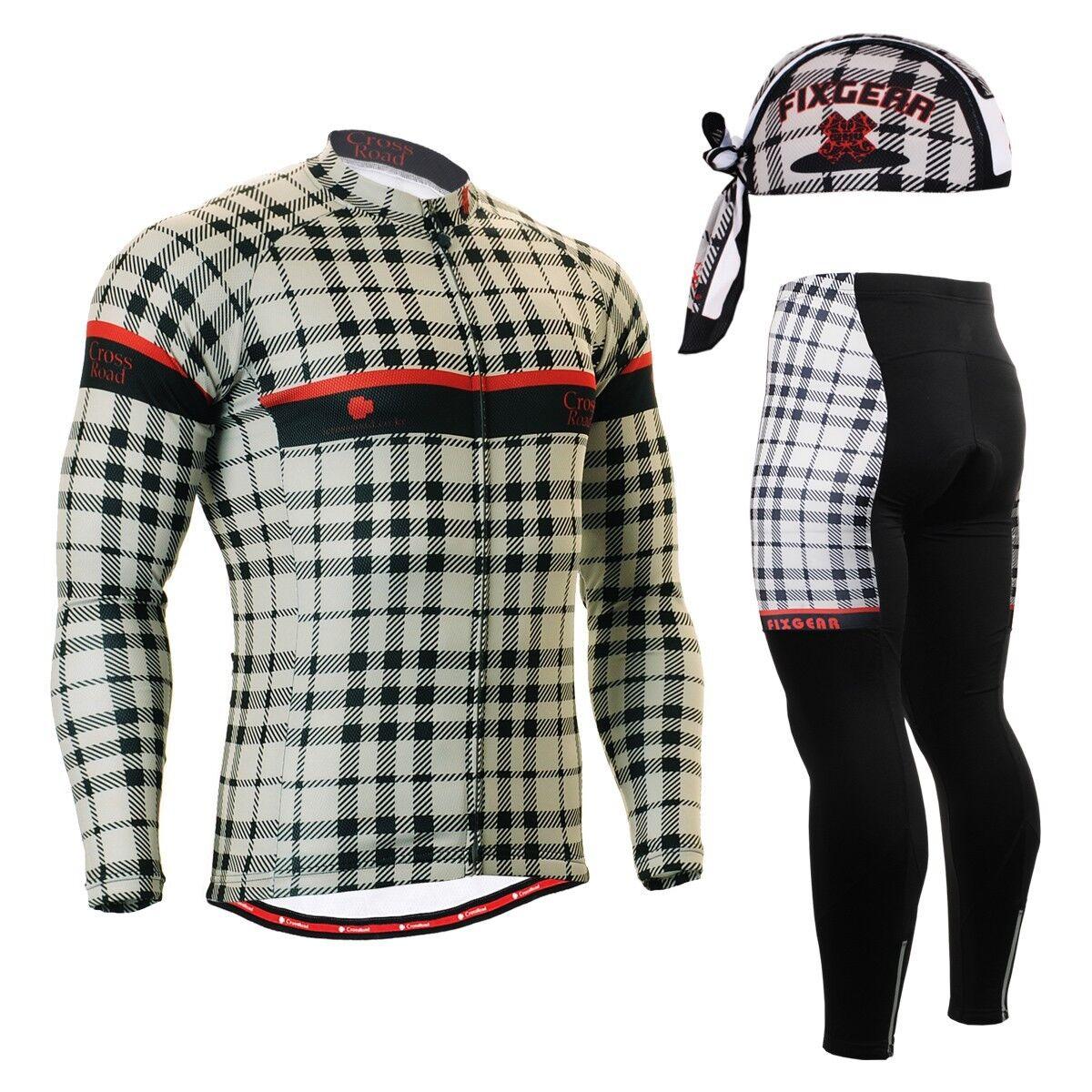 FIXGEAR CS-101 SET Cycling Jersey & Padded Pants,MTB Bike,BMX,Beanie Free Free Bike,BMX,Beanie GIFT eaac94