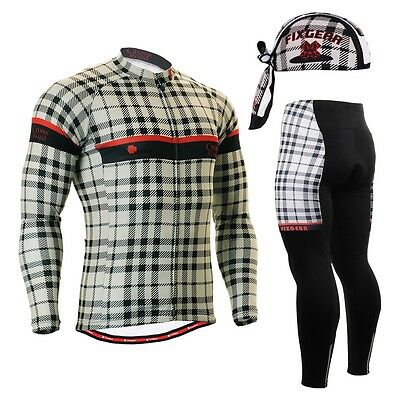 FIXGEAR CS-101 SET Cycling Jersey & Padded Pants,MTB Bike,BMX,Beanie Free GIFT