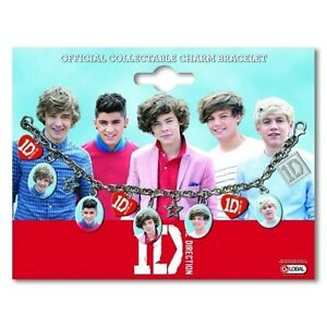 ONE-DIRECTION-1D-OFFICIAL-MERCHANDISE-CHARM-BRACELET-INDIVIDUAL-SHOTS-LOGO-NeW