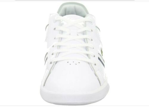 Lacoste Men/'s White Novas Leather Trainers Brand New Boxed free UK RM24 Delivery