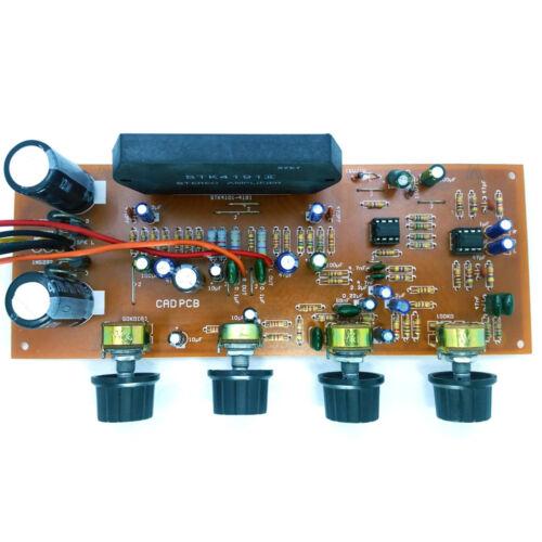 STK 4191 100W Stereo Power Amplifier DIY kit with NE4558 Pre Amp Tone Ctrl PCB