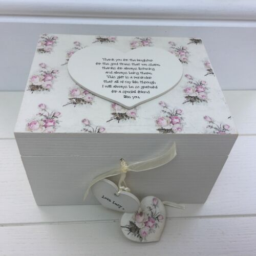 Shabby Personalised Chic Distressed Special Best Friend Gift Box Any Names//words