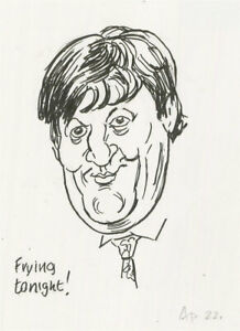 Terry Shelbourne (1930-2020) - Contemporary Pen and Ink Drawing, Stephen Fry