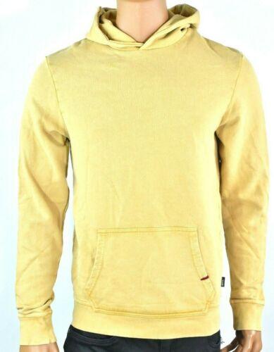 Buffalo David Bitton Mens Hoodie New S M L XXL Mustard Solid Pocket Pullover