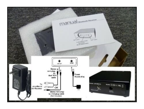 Wireless Bluetooth Audio Receiver 12V Piano Gloss Finish Battery Stereo Car Home