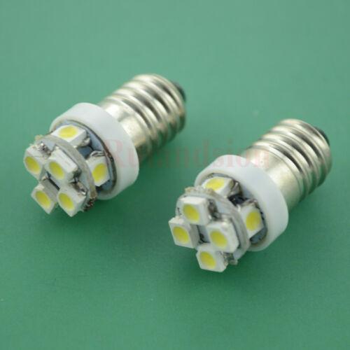 10pcs LED Lamp Bulb 12V 3528 8smd MES E10 screw Torch Lamp Bulbs White