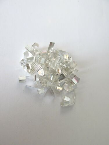 200pc 10x5mm Brillo Plata Plegable Crimp Termina la fabricación de joyas hallazgos Craft UK