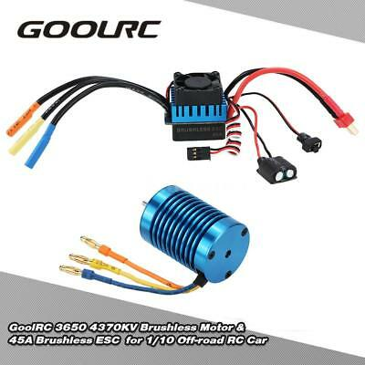 GoolRC 3650 4370KV 4P Brushless Motor & 45A ESC for 1/10 Off-road RC Car K4L0