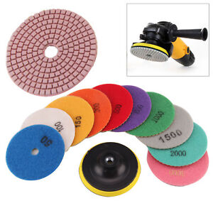 11X-Diamond-Polishing-Pads-4-034-Grinder-Disc-For-Granite-Marble-Concrete-Stone