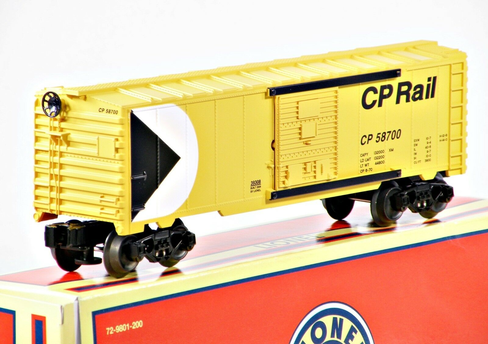 Lionel 6-39308 Canadian Pacific CP Diecast Frame Boxcar 2008 C10