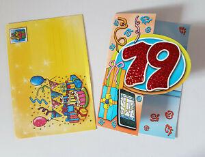 Carte D Anniversaire 19 Ans 1 Enveloppe Incluse Neuf Ebay