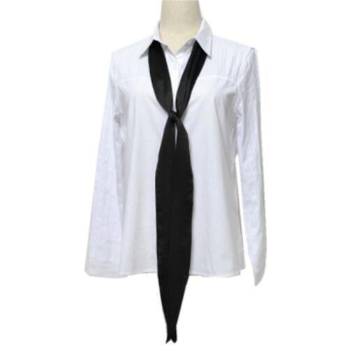 Women Chiffon Skinny Scarf Extra Long Slim Belt Tie Plain Ribbon Choker Neck rr