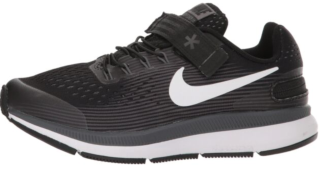 adb4ad4373a74 Nike Zoom Flyease Pegasus 34 Running GS Black White 918020-002 Youth  4.5y->7y