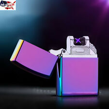 USB Cigarette Cigar Electronic Double Arc Lighter Rechargeable Flameless Metal