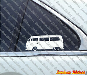 Details About 2x Lowered Stickers Auto Aufkleber For Vw T2 Transporter Bus Oldtimer